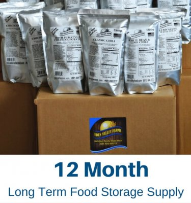 Long Term Food Storage Supply 12 Months