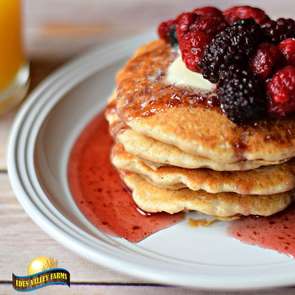 Honey Whole Wheat Pancakes